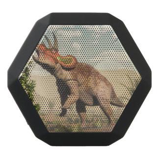 Triceratops eating at magnolia tree - 3D render Black Bluetooth Speaker