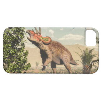 Triceratops eating at magnolia tree - 3D render iPhone 5 Cover