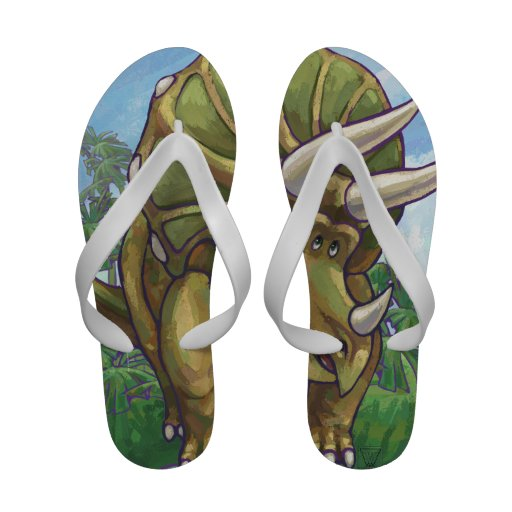 Triceratops Gifts & Accessories Flip-Flops