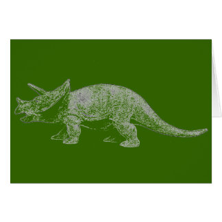 Triceratops Happy Birthday Card