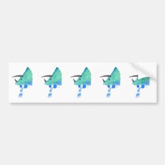 Triceratops In A Scarf Bumper Sticker