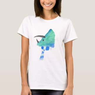Triceratops In A Scarf T-Shirt
