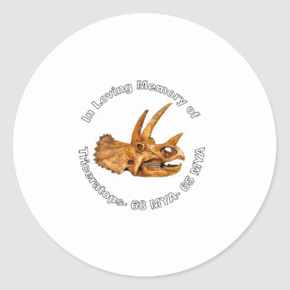 Triceratops' Memory Classic Round Sticker