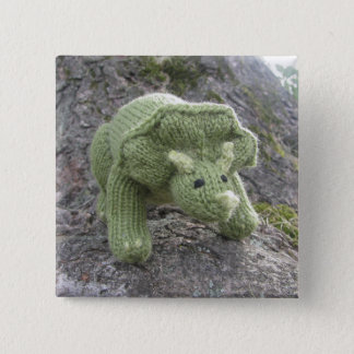 Triceratops pin-back button