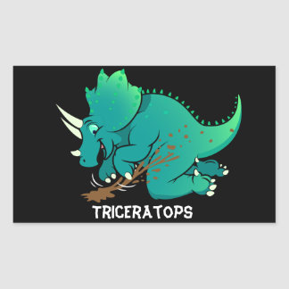 Triceratops Rectangular Sticker