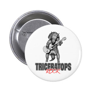 Triceratops Rocks 6 Cm Round Badge