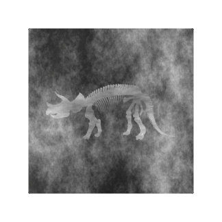 Triceratops skeleton canvas print