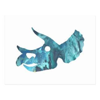 Triceratops Skull Art Postcard