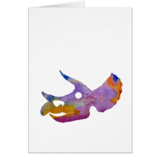 Triceratops Skull Card
