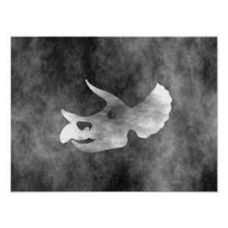 Triceratops Skull Poster