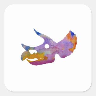 Triceratops Skull Square Sticker