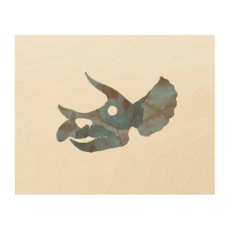 Triceratops Skull Wood Wall Art