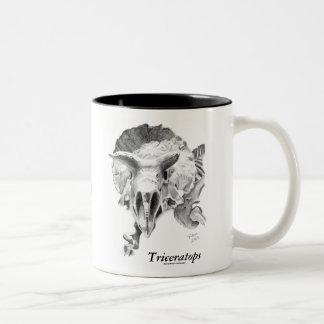 Triceratops vs. T. rex Two-Tone Coffee Mug