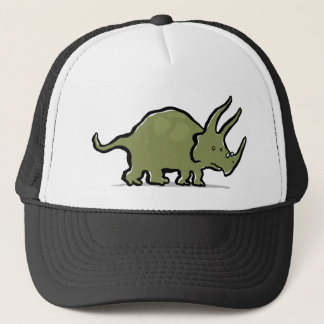 triceratops wearing glasses cap