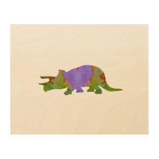 Triceratops Wood Print