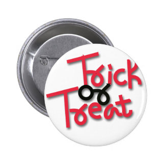 Trick gold Treat Pinback Button