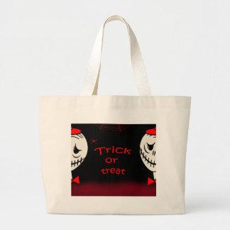 Trick or treat 2 large tote bag