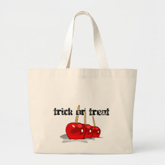 Trick or Treat 3 Red Candy Apples Jumbo Tote Bag