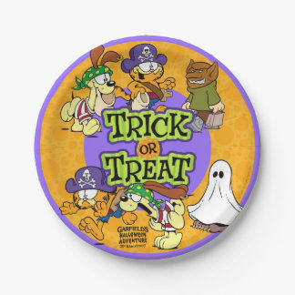 Trick-or-Treat 7 Inch Paper Plate