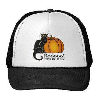 Trick-Or-Treat Art Neouvou Black Cat & Pumpkin Cap