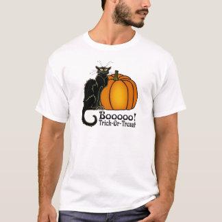 Trick-Or-Treat Art Neouvou Black Cat & Pumpkin T-Shirt