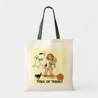 Trick or Treat Bag Rabbit Halloween Costume Girl Canvas Bag