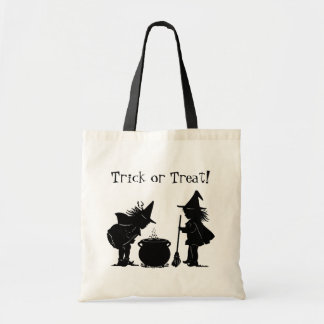 Trick or Treat Bag Two Witches Stirring up a Brew