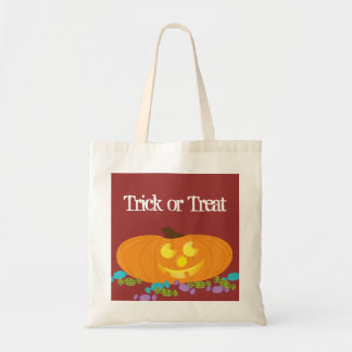 Trick or Treat bag with a pumpkin and candy