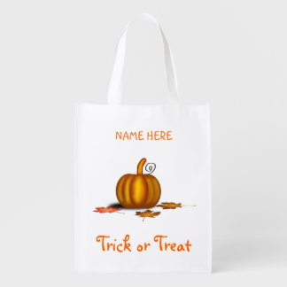 Trick or Treat Bag with Pumpkin Grocery Bag