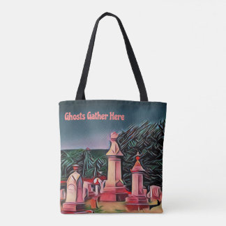 Trick Or Treat Bags Lit Graveyard Tombstones