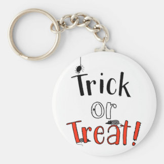Trick or Treat! Basic Round Button Key Ring