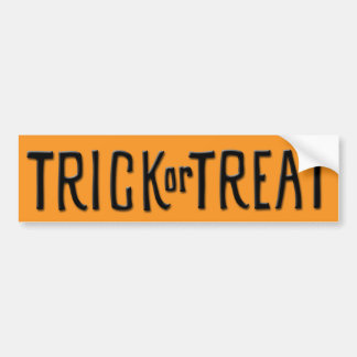 Trick or Treat black Bumper Sticker