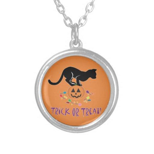Trick or Treat Black Cat Necklace