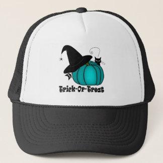 Trick-Or-Treat Black Cats & Teal Pumpkin Cap