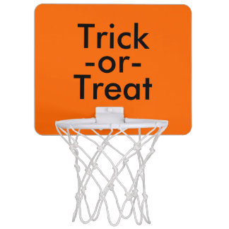 Trick-or-Treat Black & Orange Halloween Theme Mini Basketball Hoop