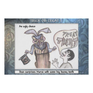 Trick or Treat by Anjo Lafin Posters