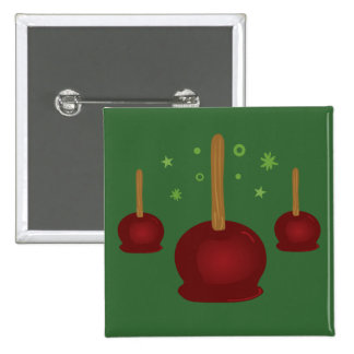 Trick or Treat Candy Apples 15 Cm Square Badge