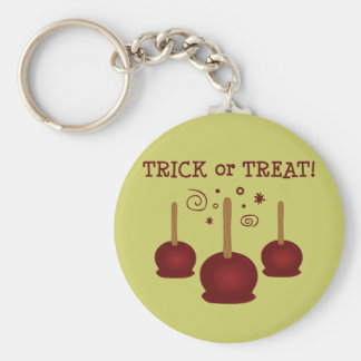 Trick or Treat Candy Apples Basic Round Button Key Ring