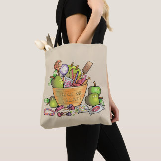 Trick or Treat Candy Bowl Tote Bag