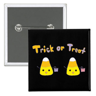 Trick or Treat Candy Corn Buttons