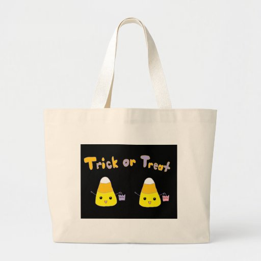 Trick or Treat Candy Corn Canvas Bags