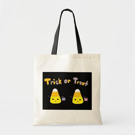 Trick or Treat Candy Corn Tote Bags