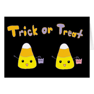 Trick or Treat Candy Corn Greeting Card
