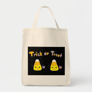 Trick or Treat Candy Corn Grocery Tote Bag