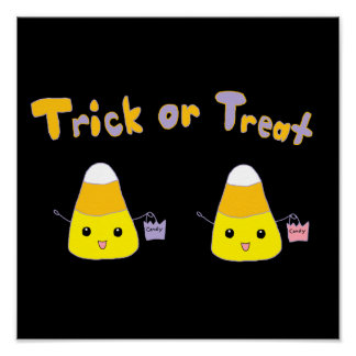 Trick or Treat Candy Corn Posters