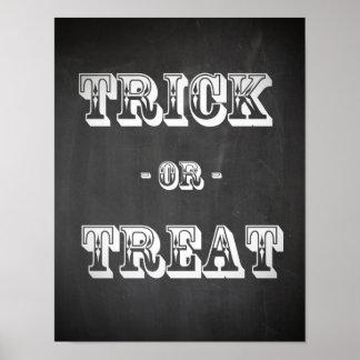 Trick or Treat Chalkboard Poster