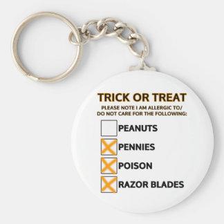 Trick or Treat Checklist Keychains