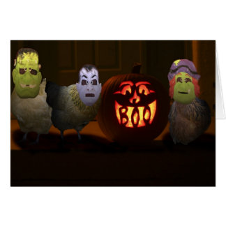 Trick or Treat Chickens Card