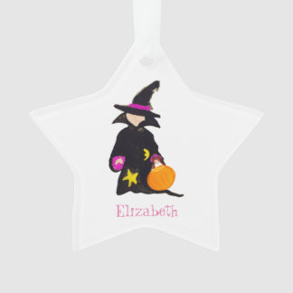 Trick or Treat Custom Name Halloween Toddler Witch