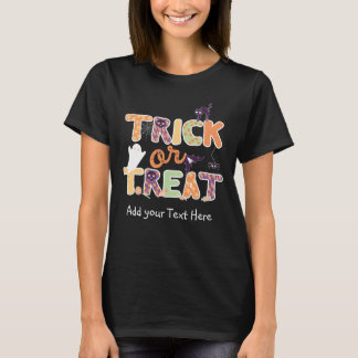 Trick or treat Cute Ghost Halloween T-Shirt